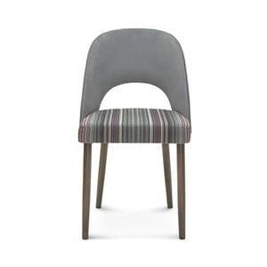 Sivá drevená stolička Fameg Lecia