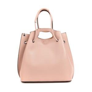 Svetloružová kožená kabelka Mangotti Bags Liliana