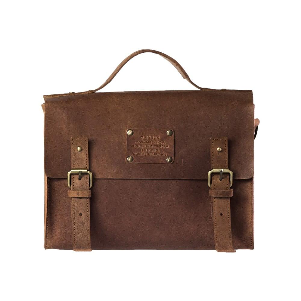 Hnedá kožená vintage taška O My Bag Little Frankie