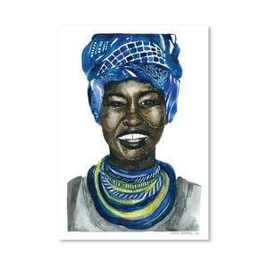 Plagát African Pride III, 30x42 cm