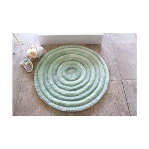 Svetlomodrá kúpeľňová predložka Alessia Ecru, Ø90cm