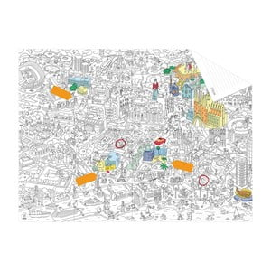 Vrecková omaľovánka mapa Barcelone