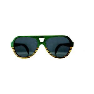 Drevené okuliare  Andwe Green Bomb