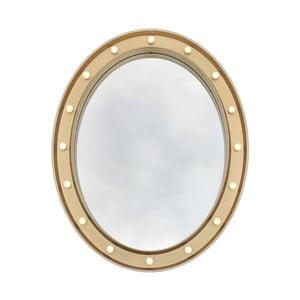 Oválne nástenné zrkadlo Maiko Champagne, 54 x 68 cm
