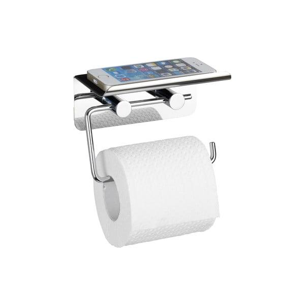 Samodržiaci držiak na toaletný papier so stojanom na telefón Wenko