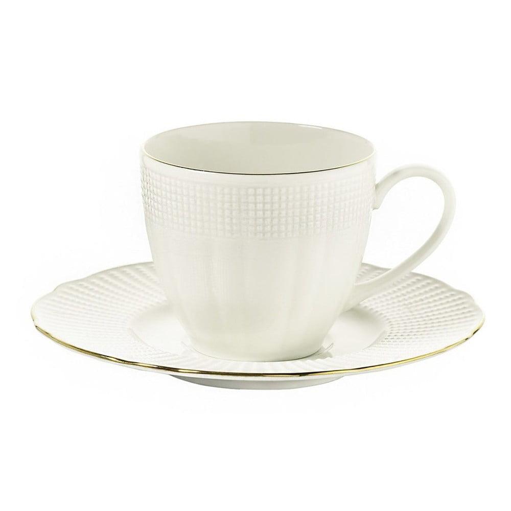 Súprava 6 porcelánových šálok na kávu s tanierikom Kutahya Café, 200 ml