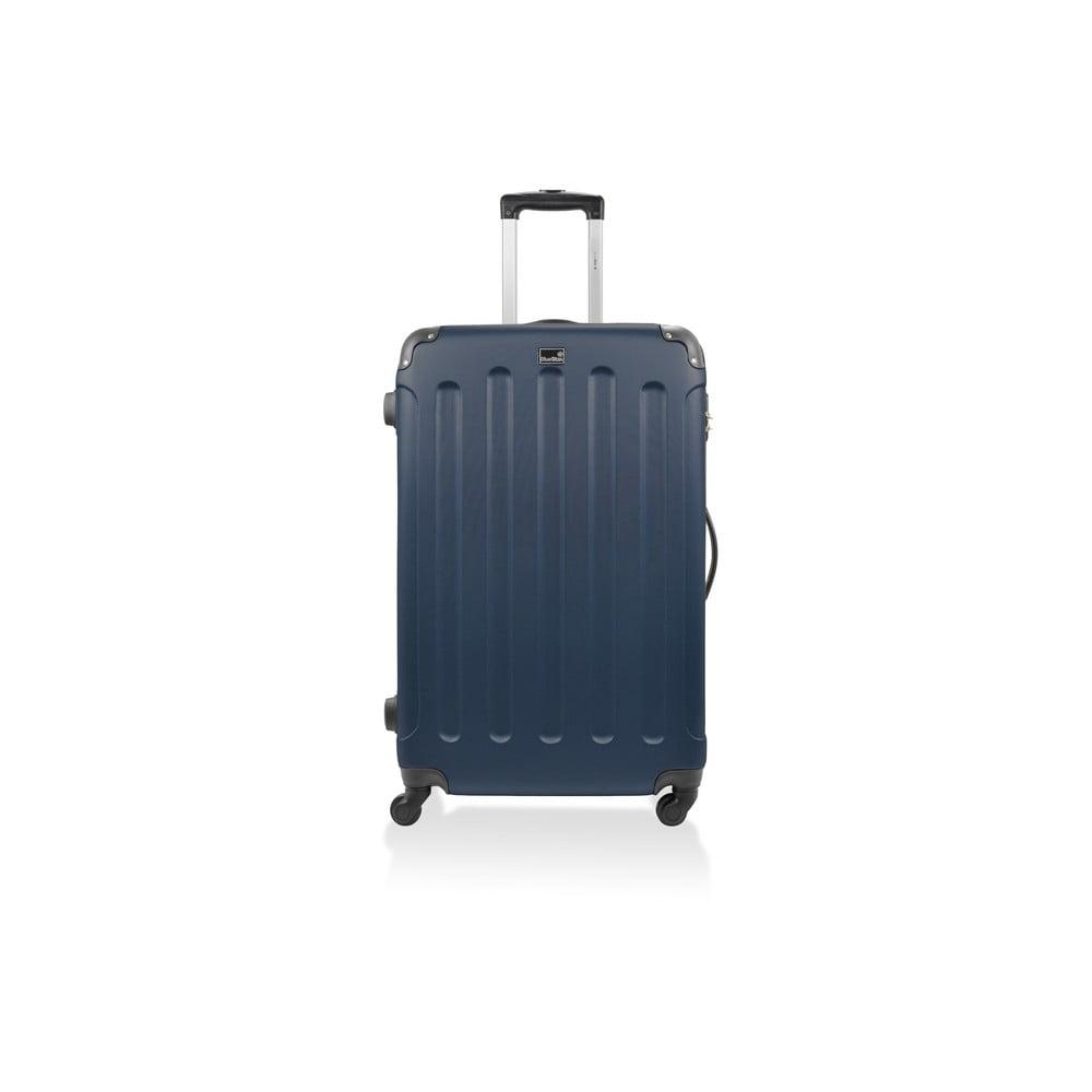 Modrý cestovný kufor na kolieskach Bluestar, 46 l