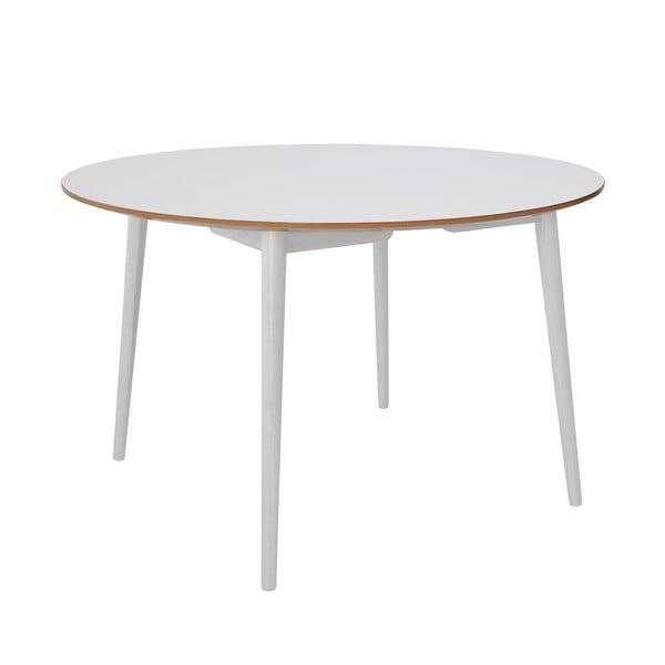 Jedálenský stôl RGE Trim, biela doska / biele nohy