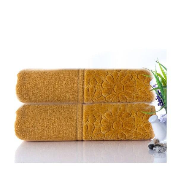 Sada 2 uterákov Samba Mustard, 50x90 cm