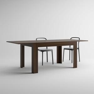 Rozkladací jedálenský stôl v dekore orecha MobiliFiver Easy, dĺžka140-220cm