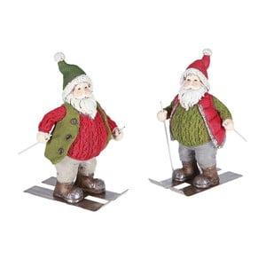 Set 2 dekorácií Santa Ski
