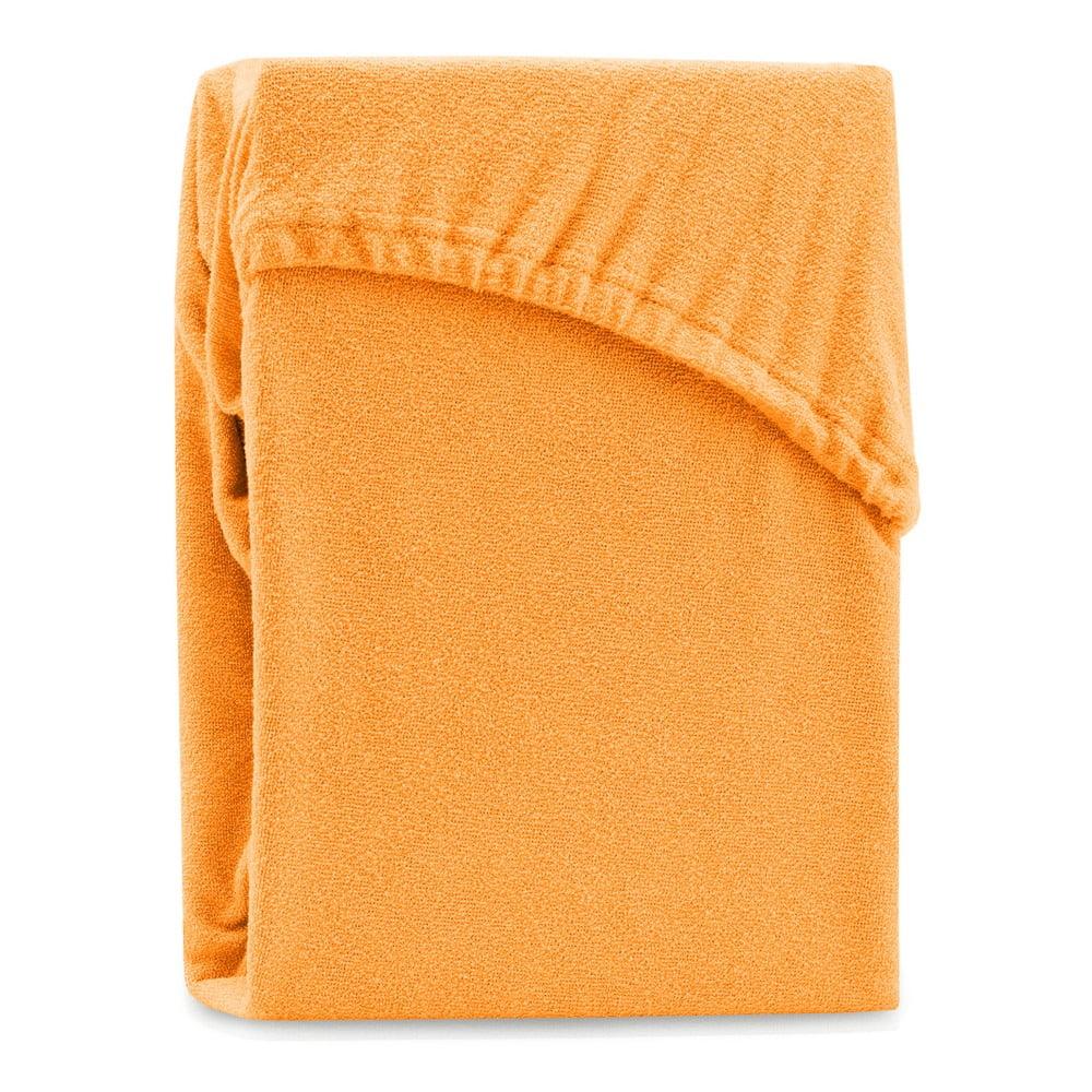 Oranžová elastická plachta na dvojlôžko AmeliaHome Ruby Orange, 200-220 x 200 cm