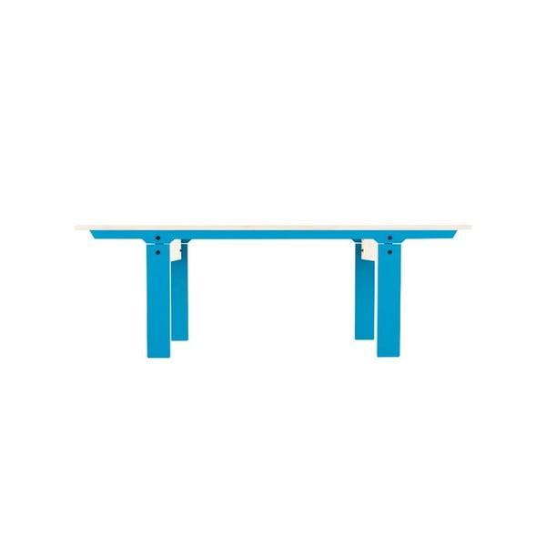 Modrá lavica na sedenie rform Slim 04, dĺžka 133 cm