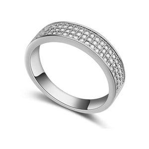 Prsteň s krištáľmi Swarovski Cubic, veľkosť 56