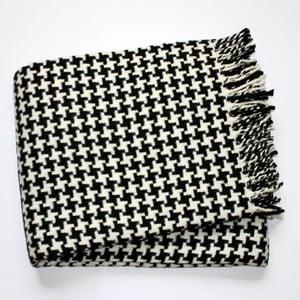 Čierno-biela deka Euromant Pearls Black, 140x180 cm