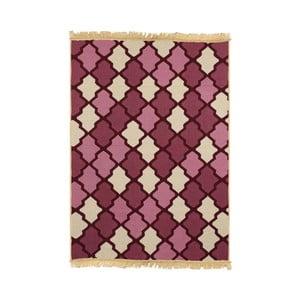 Červeý koberec Duvar Red Beige, 80 x 150 cm