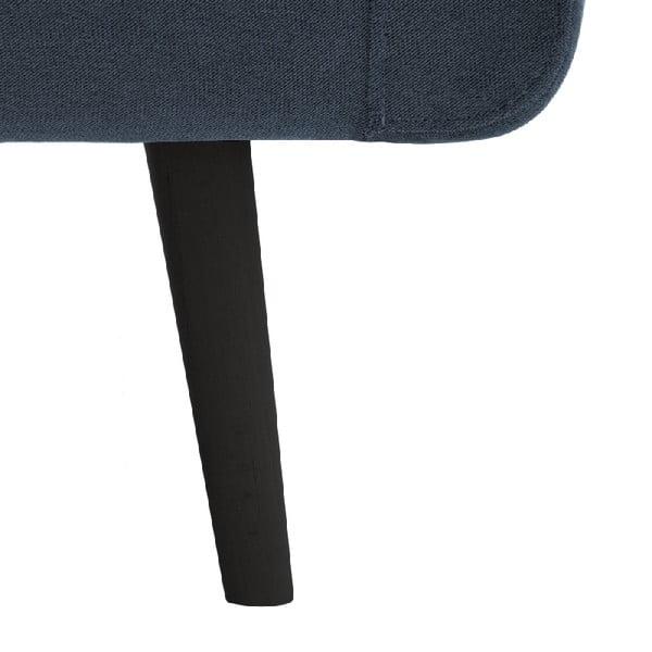 Svetlomodrá trojmiestna pohovka VIVONITA Sondero, pravá strana a čierne nohy