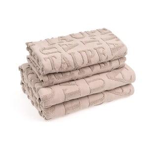 Sada 4 bavlnených uterákov CasaDiBassi Ttypo