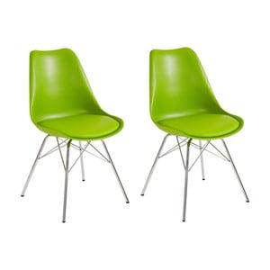 Sada 2 zelených jedálenských  stoličiek Støraa Jenny