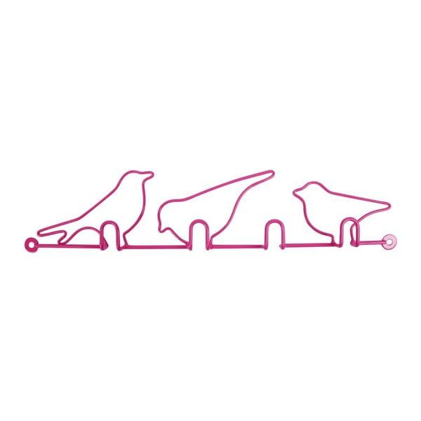 Háčiky Oiseaux Pink