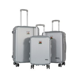 Sada 3 sivých cestovných kufrov LULU CASTAGNETTE Darwin