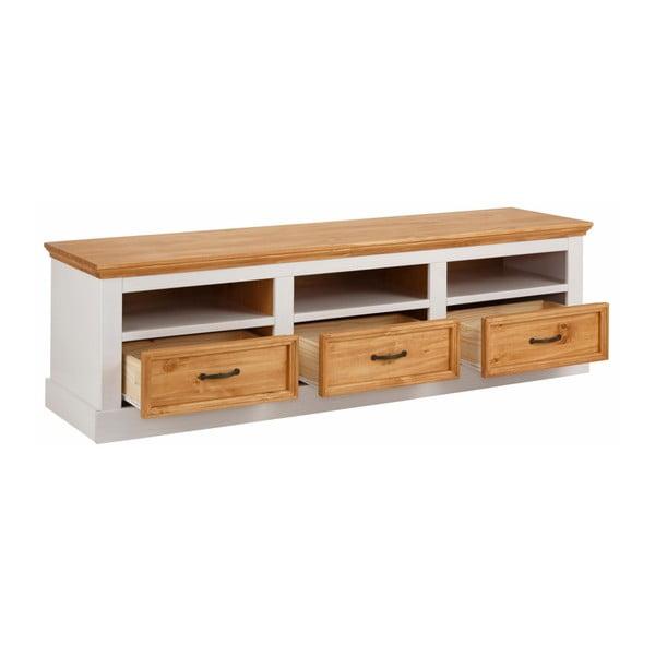 Biely TV stolík z masívneho borovicového dreva Støraa Suzie