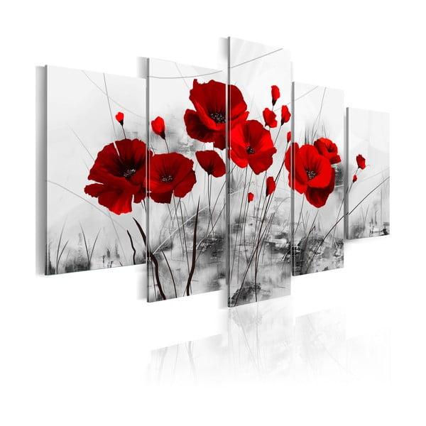 Obraz na plátne Bimago Red Miracle 100×50 cm