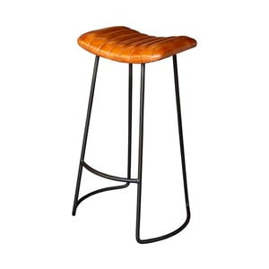 Barová stolička s poťahom z kože Antic Line Candy