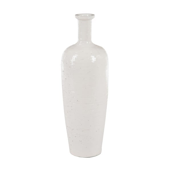 Váza Glazed Terra White, 18x18x53 cm