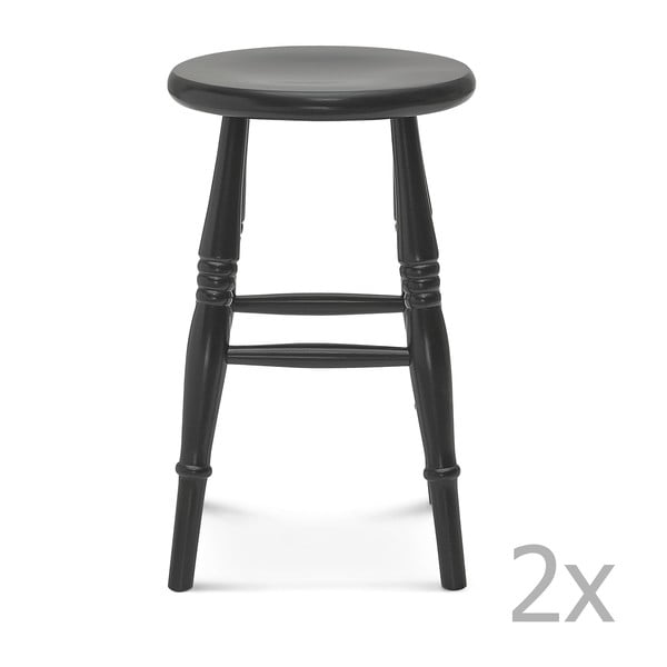 Sada 2 čiernych stoličiek Fameg Iver
