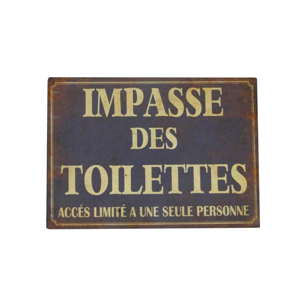 Plechová ceduľa Antic Line Impasse Des Toilettes
