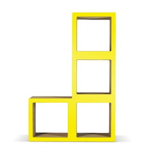 Kartónová knižnica Bit Ti Elle Yellow