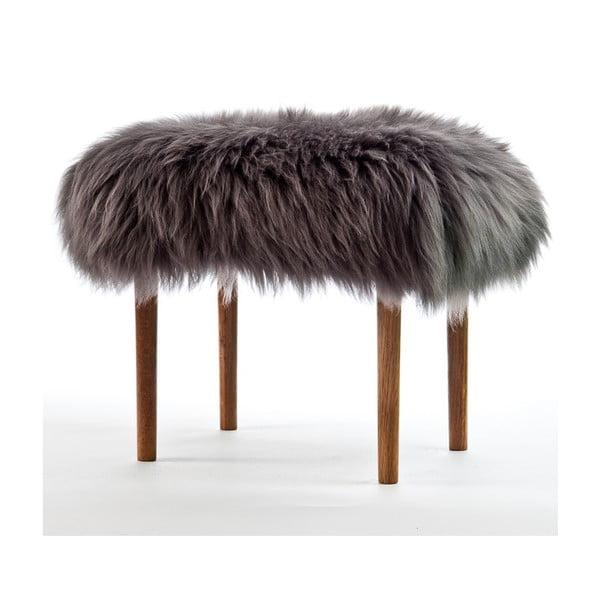 Stolička z ovčej kože Ceri Slate Grey