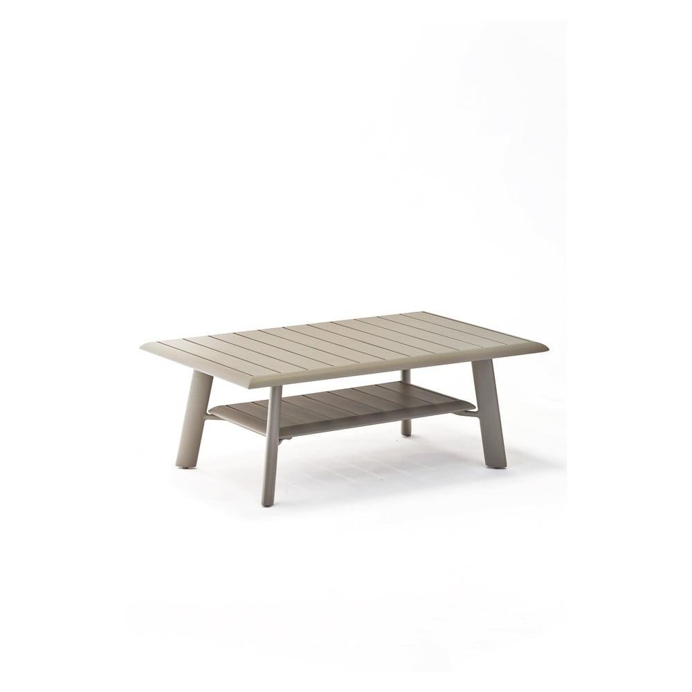 Sivý hliníkový konferenčný záhradný stolík Ezeis Spring