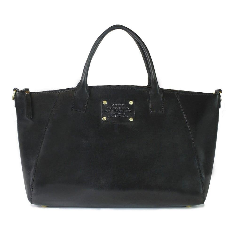 663ac024c5 Čierna kožená kabelka O My Bag Fly Violet Midi
