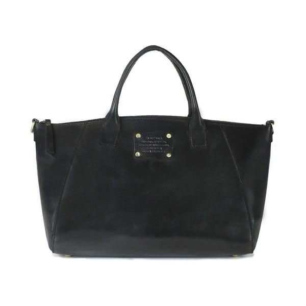 Čierna kožená kabelka O My Bag Fly Violet Midi