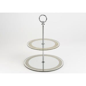 Dvoupatrový zrcadlový stojan na dortíky Mirror