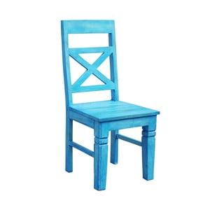 Modrá jedálenská stolička zrecyklovného dreva SOB Atlantic