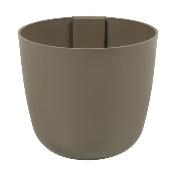 Magnetický kvetináč Bowl 12x11x12 cm, hnedý