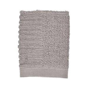 Sivý uterák zo 100% bavlny na tvár Zone Classic Gull Grey, 30×30 cm