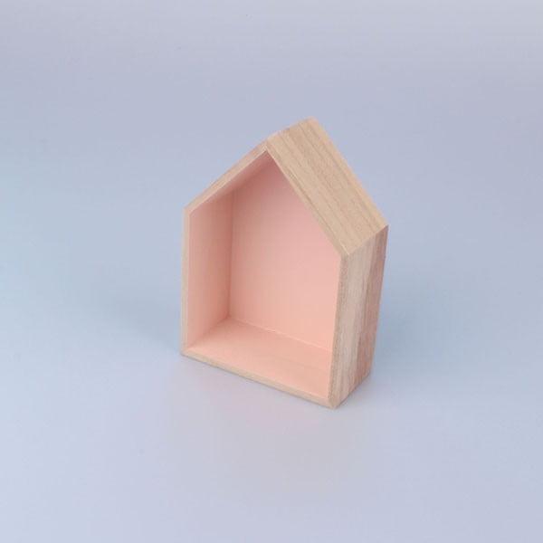 Závesná polička Domček 12x17 cm, ružová