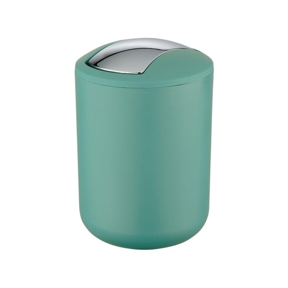 Zelený odpadkový kôš Wenko Brasil S, výška 21 cm