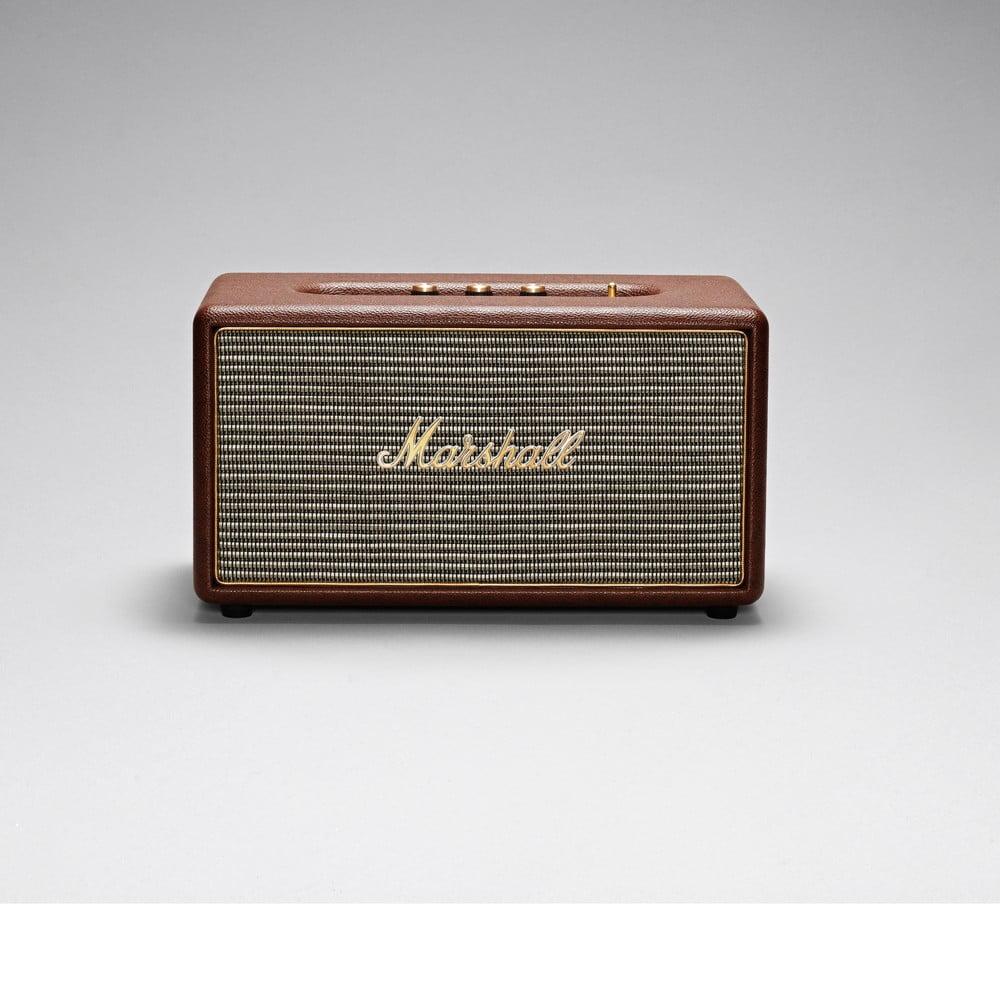 Hnědý reproduktor s Bluetooth pripojením Marshall Stanmore