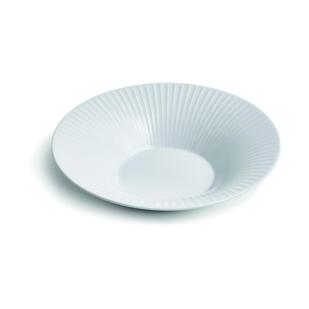 Biely porcelánový polievkový tanier Kähler Design Hammershoi, ⌀ 26 cm