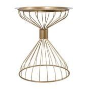 Príručný stolík v zlatej farbe Zuiver Kelly