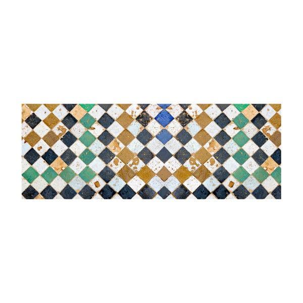 Koberec z vinylu Square Tiles, 66x180 cm