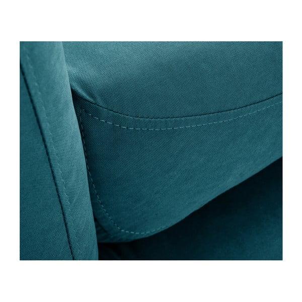 Tyrkysovozelená trojmiestna pohovka Scandi by Stella Cadente Maison Comete, ľavý roh