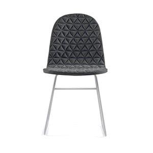 Tmavosivá stolička s kovovými nohami IKER Mannequin V Triangle