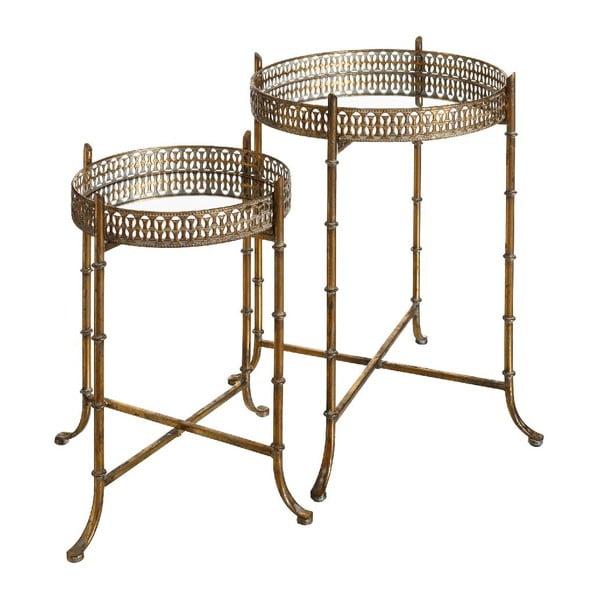 Set 2 odkladacích stolíkov Antique