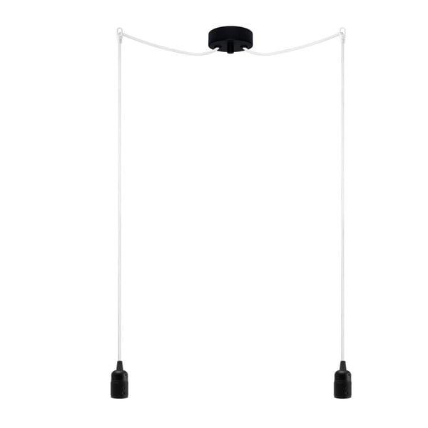 Dvojitý závesný kábel Uno, čierna/biela/čierna